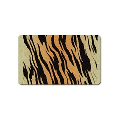 Tiger Animal Print A Completely Seamless Tile Able Background Design Pattern Magnet (name Card)