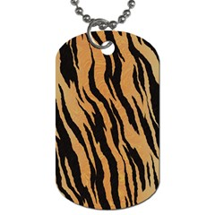 Tiger Animal Print A Completely Seamless Tile Able Background Design Pattern Dog Tag (two Sides)