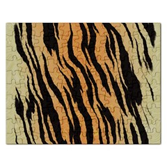 Tiger Animal Print A Completely Seamless Tile Able Background Design Pattern Rectangular Jigsaw Puzzl