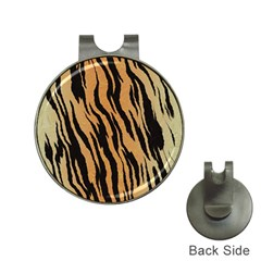 Tiger Animal Print A Completely Seamless Tile Able Background Design Pattern Hat Clips With Golf Markers