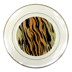 Tiger Animal Print A Completely Seamless Tile Able Background Design Pattern Porcelain Plates