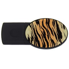 Tiger Animal Print A Completely Seamless Tile Able Background Design Pattern Usb Flash Drive Oval (4 Gb)