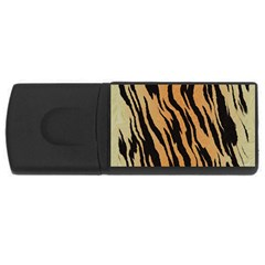 Tiger Animal Print A Completely Seamless Tile Able Background Design Pattern Usb Flash Drive Rectangular (4 Gb)
