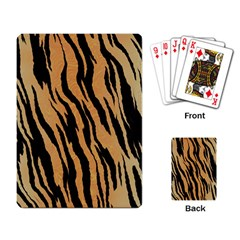 Tiger Animal Print A Completely Seamless Tile Able Background Design Pattern Playing Card