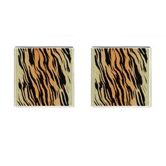 Tiger Animal Print A Completely Seamless Tile Able Background Design Pattern Cufflinks (Square)