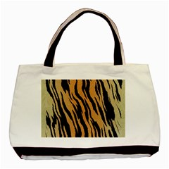 Tiger Animal Print A Completely Seamless Tile Able Background Design Pattern Basic Tote Bag