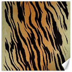 Tiger Animal Print A Completely Seamless Tile Able Background Design Pattern Canvas 16  X 16