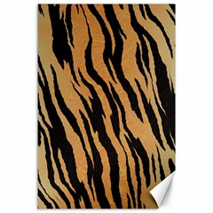 Tiger Animal Print A Completely Seamless Tile Able Background Design Pattern Canvas 24  X 36
