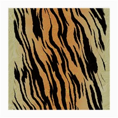 Tiger Animal Print A Completely Seamless Tile Able Background Design Pattern Medium Glasses Cloth (2 Side)