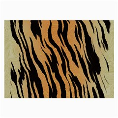 Tiger Animal Print A Completely Seamless Tile Able Background Design Pattern Large Glasses Cloth (2 Side)