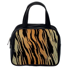 Tiger Animal Print A Completely Seamless Tile Able Background Design Pattern Classic Handbags (one Side)