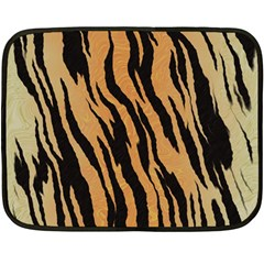 Tiger Animal Print A Completely Seamless Tile Able Background Design Pattern Fleece Blanket (mini)