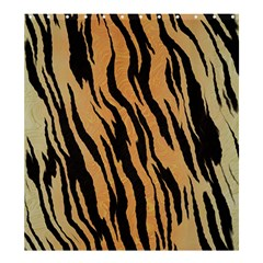 Tiger Animal Print A Completely Seamless Tile Able Background Design Pattern Shower Curtain 66  X 72  (large)