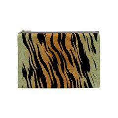 Tiger Animal Print A Completely Seamless Tile Able Background Design Pattern Cosmetic Bag (medium)