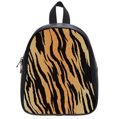 Tiger Animal Print A Completely Seamless Tile Able Background Design Pattern School Bags (small)