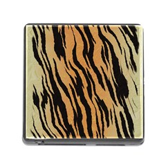 Tiger Animal Print A Completely Seamless Tile Able Background Design Pattern Memory Card Reader (square)