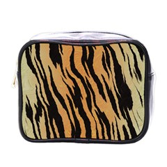 Tiger Animal Print A Completely Seamless Tile Able Background Design Pattern Mini Toiletries Bags
