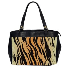 Tiger Animal Print A Completely Seamless Tile Able Background Design Pattern Office Handbags (2 Sides)