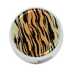 Tiger Animal Print A Completely Seamless Tile Able Background Design Pattern 4 Port Usb Hub (two Sides)