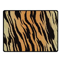 Tiger Animal Print A Completely Seamless Tile Able Background Design Pattern Fleece Blanket (small)