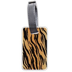 Tiger Animal Print A Completely Seamless Tile Able Background Design Pattern Luggage Tags (Two Sides)
