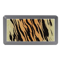 Tiger Animal Print A Completely Seamless Tile Able Background Design Pattern Memory Card Reader (mini)