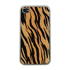 Tiger Animal Print A Completely Seamless Tile Able Background Design Pattern Apple iPhone 4 Case (Clear)