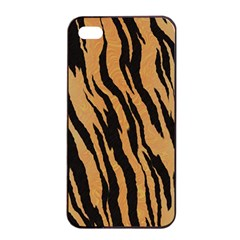 Tiger Animal Print A Completely Seamless Tile Able Background Design Pattern Apple Iphone 4/4s Seamless Case (black)