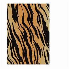 Tiger Animal Print A Completely Seamless Tile Able Background Design Pattern Large Garden Flag (two Sides)