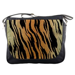 Tiger Animal Print A Completely Seamless Tile Able Background Design Pattern Messenger Bags
