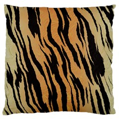 Tiger Animal Print A Completely Seamless Tile Able Background Design Pattern Large Cushion Case (two Sides)