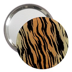 Tiger Animal Print A Completely Seamless Tile Able Background Design Pattern 3  Handbag Mirrors