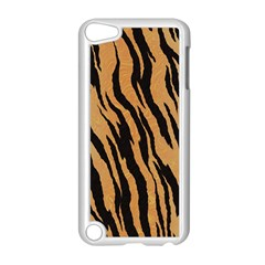 Tiger Animal Print A Completely Seamless Tile Able Background Design Pattern Apple iPod Touch 5 Case (White)