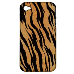 Tiger Animal Print A Completely Seamless Tile Able Background Design Pattern Apple Iphone 4/4s Hardshell Case (pc+silicone)