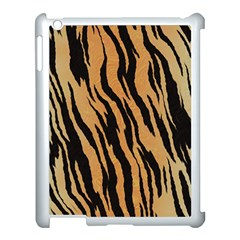 Tiger Animal Print A Completely Seamless Tile Able Background Design Pattern Apple Ipad 3/4 Case (white)