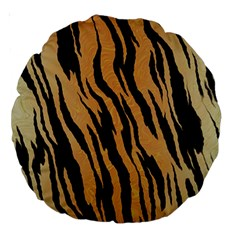 Tiger Animal Print A Completely Seamless Tile Able Background Design Pattern Large 18  Premium Round Cushions