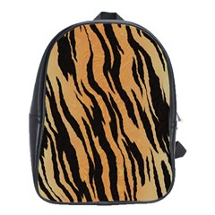 Tiger Animal Print A Completely Seamless Tile Able Background Design Pattern School Bags (xl)