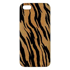 Tiger Animal Print A Completely Seamless Tile Able Background Design Pattern Apple Iphone 5 Premium Hardshell Case