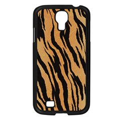 Tiger Animal Print A Completely Seamless Tile Able Background Design Pattern Samsung Galaxy S4 I9500/ I9505 Case (black)