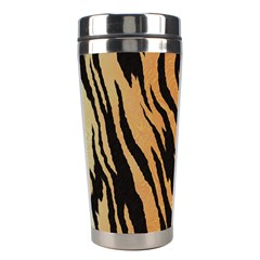Tiger Animal Print A Completely Seamless Tile Able Background Design Pattern Stainless Steel Travel Tumblers