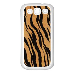 Tiger Animal Print A Completely Seamless Tile Able Background Design Pattern Samsung Galaxy S3 Back Case (white)