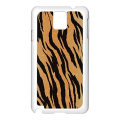 Tiger Animal Print A Completely Seamless Tile Able Background Design Pattern Samsung Galaxy Note 3 N9005 Case (white)