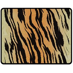 Tiger Animal Print A Completely Seamless Tile Able Background Design Pattern Double Sided Fleece Blanket (medium)