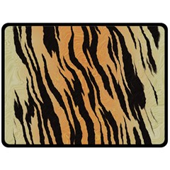 Tiger Animal Print A Completely Seamless Tile Able Background Design Pattern Double Sided Fleece Blanket (large)