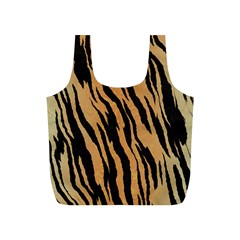 Tiger Animal Print A Completely Seamless Tile Able Background Design Pattern Full Print Recycle Bags (s)