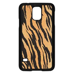 Tiger Animal Print A Completely Seamless Tile Able Background Design Pattern Samsung Galaxy S5 Case (black)