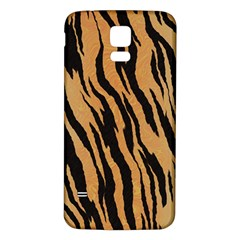 Tiger Animal Print A Completely Seamless Tile Able Background Design Pattern Samsung Galaxy S5 Back Case (white)