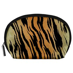 Tiger Animal Print A Completely Seamless Tile Able Background Design Pattern Accessory Pouches (Large)