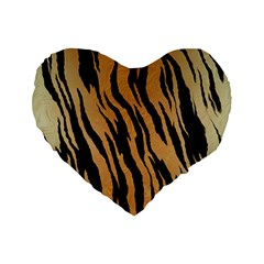 Tiger Animal Print A Completely Seamless Tile Able Background Design Pattern Standard 16  Premium Flano Heart Shape Cushions
