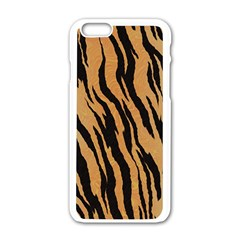 Tiger Animal Print A Completely Seamless Tile Able Background Design Pattern Apple Iphone 6/6s White Enamel Case